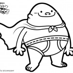Coloring Pages of Captain Underpants by pizzasupper