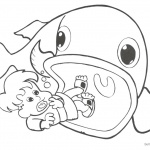 Coloring Pages of Jonah And The Whale Black and White