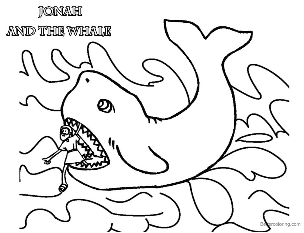Coloring Pages of Jonah And The Whale Clipart printable for free
