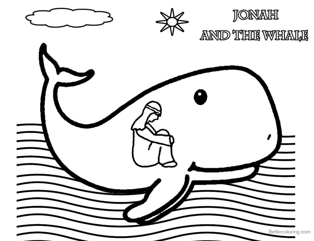 Coloring Pages of Jonah And The Whale Free Printable