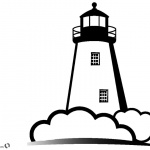 Coloring Pages of Lighthouse Black and White