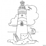 Coloring Pages of Lighthouse Lineart