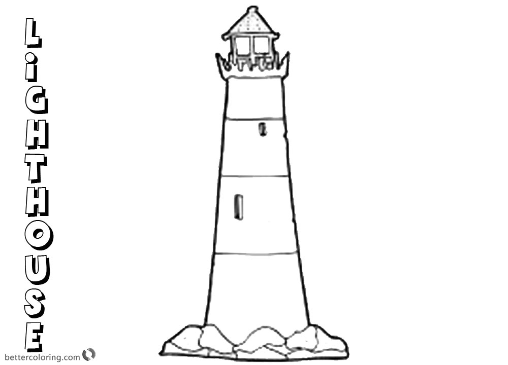 Coloring Pages of Lighthouse printable for free