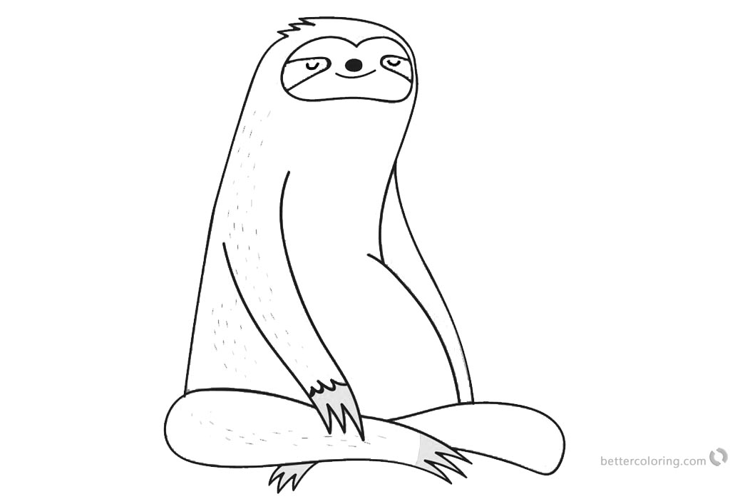 Coloring Pages of Sloth Free