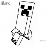 Creeper from Minecraft of Roblox Coloring Pages
