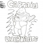 Cute Captain Underpants Coloring Pages