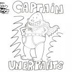 Cute Captain Underpants Coloring Pages