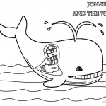 Cute Coloring Pages of Jonah And The Whale