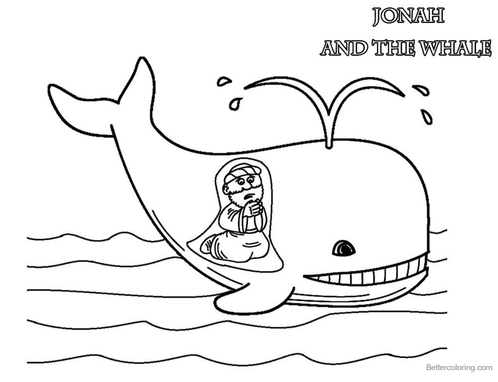 Cute Coloring Pages of Jonah And The Whale Free