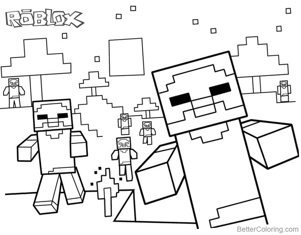 photo about Roblox Printable Coloring Pages named Coloring Internet pages Dantdm Roblox Printable - BWWM.Workers.COLORING