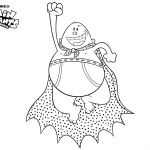 Flying Captain Underpants Coloring Pages