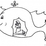 Funny Jonah And The Whale Coloring Pages