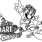 Funny Super Mario Odyssey Coloring Pages Clipart