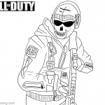 Ghost from Call of Duty Black OPS Coloring Pages
