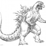 Godzilla Coloring Pages Fan Art Godzilla 2000