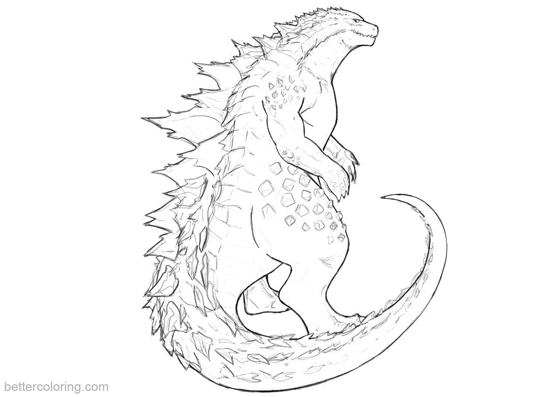 Godzilla Coloring Pages Fanart - Free Printable Coloring Pages