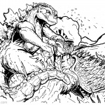 Godzilla Coloring Pages Godzilla vs Anguirus