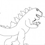 Godzilla Coloring Pages Simple Drawing