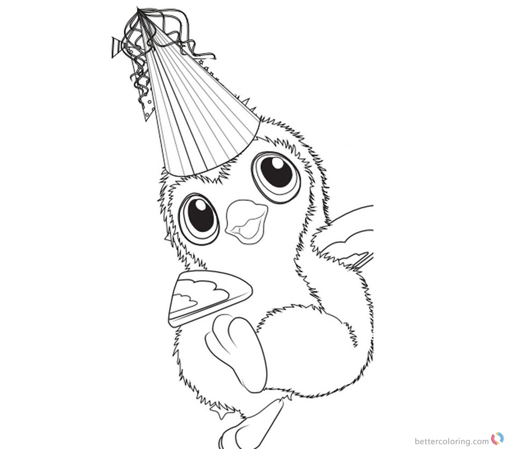 Happy Hatchimals Coloring Pages printable for free
