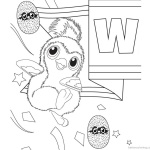 Hatchimal Coloring Pages Cute Penguala Clipart