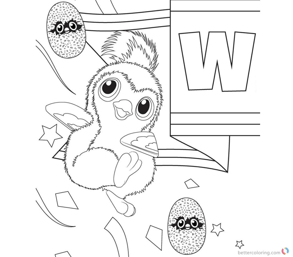 Hatchimal Coloring Pages Cute Penguala Clipart printable for free
