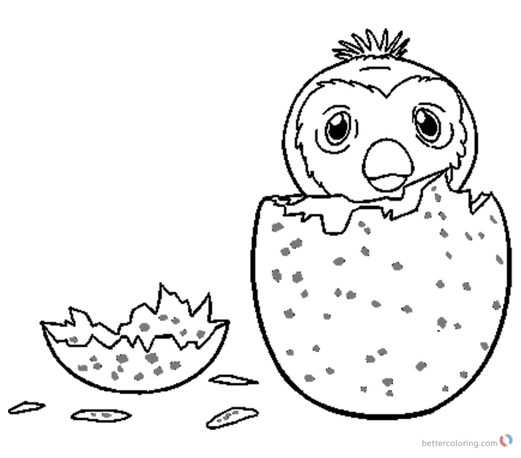 Hatchimals Colleggtibles Coloring Pages How to Draw Hatchy printable for free