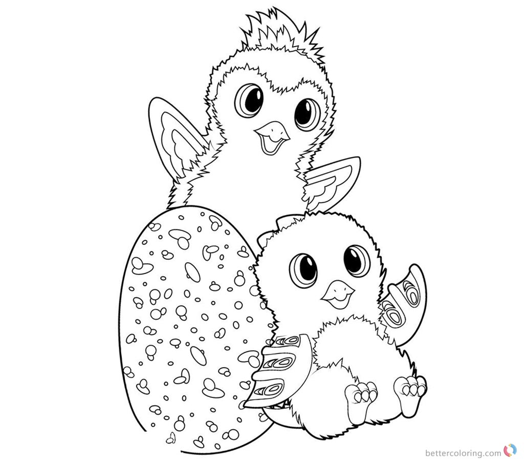 Kleurplaat Hatchimals