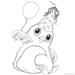 Hatchimals Coloring Pages Happy Christmas