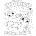 Hatchimals Coloring Pages Happy New Year