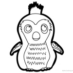Hatchimals Coloring Pages How to Draw Penguala
