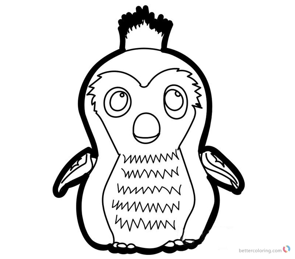 Hatchimals Coloring Pages How to Draw Penguala printable for free