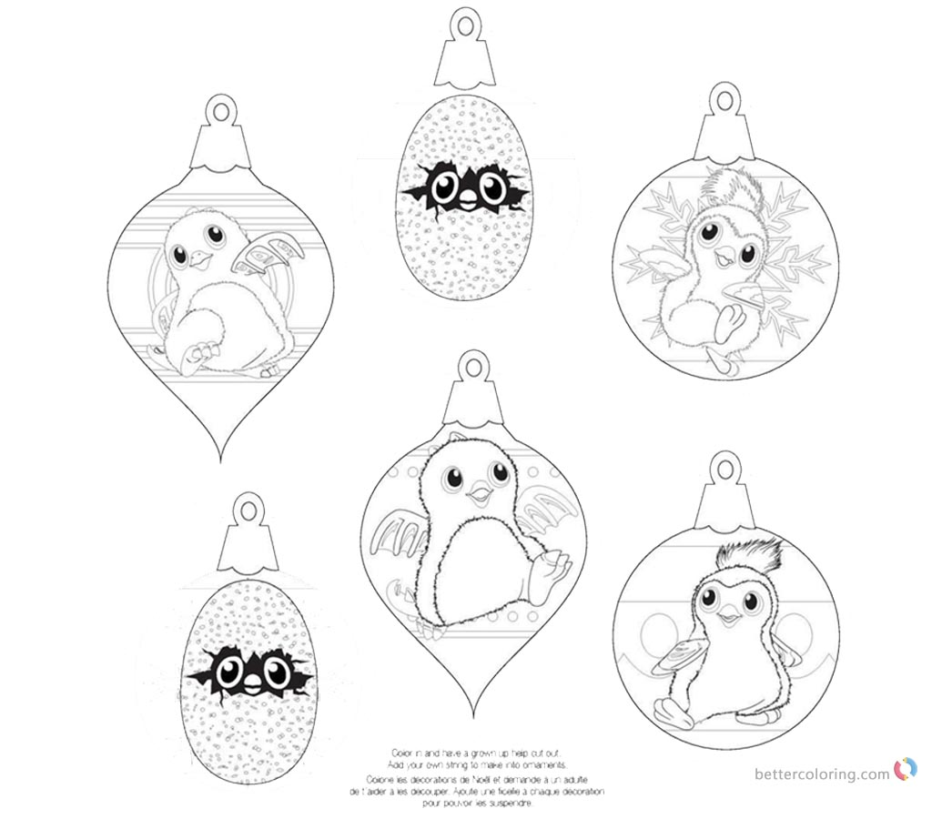 Hatchy Hatchimals Coloring Pages Draggles printable for free
