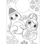 Hatchy Hatchimals Coloring Pages Happy Winter