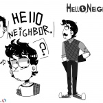 Hello Neighbor Coloring Pages Black and White