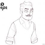 Hello Neighbor Coloring Pages Fanart By a little bit of death