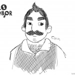 Hello Neighbor Coloring Pages Mr.Peterson by itsnotsugar