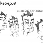 Hello Neighbor Coloring Pages Nicky Fanart