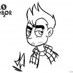 Hello Neighbor Coloring Pages Player's Artwork Sketch