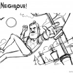 Hello Neighbor Coloring Pages Sketch