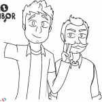 Hello Neighbor Coloring Pages The Player Nicky and Mr Peterson