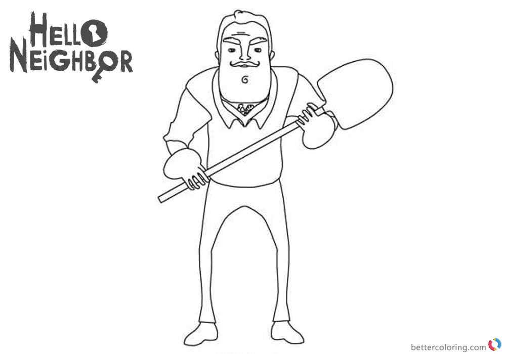 Hello Neighbor Coloring Pages
