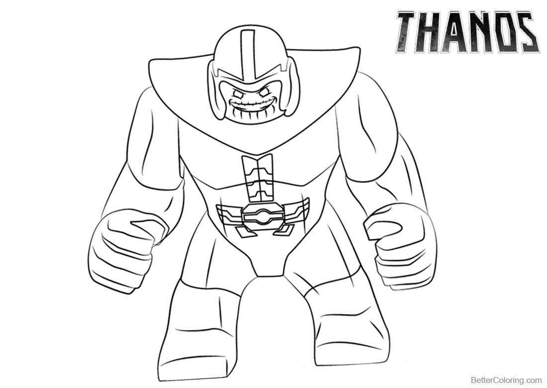 How to Draw Thanos Coloring Pages printable for free