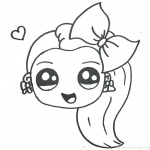 Jojo Siwa Coloring Pages Emoji Cute by Happy Drawings