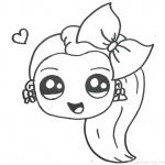 Jojo Siwa Coloring Pages Emoji Cute by Happy Drawings
