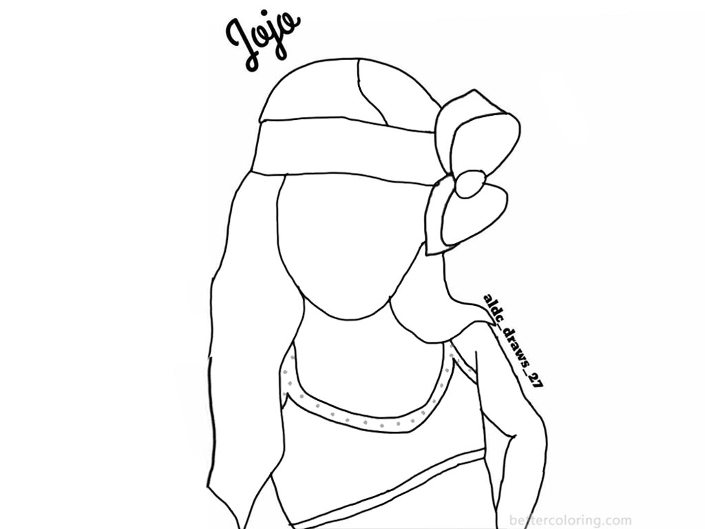 Jojo Siwa Coloring Pages Fan Line Drawing By Aldc Draws 27 Free