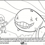 Jonah And The Whale Coloring Pages Cartoon Story Picture