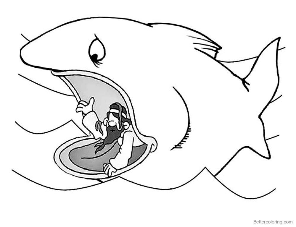 Jonah And The Whale Coloring Pages Jonah Ask for Forgiveness to God printable for free
