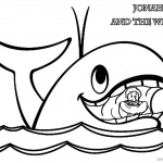 Jonah And The Whale Coloring Pages Jonah in Whale's Mouth