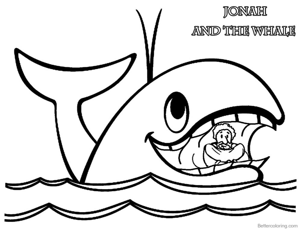 It is a photo of Peaceful Free Printable Jonah and the Whale Coloring Pages
