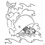 Jonah And The Whale Coloring Pages Line Drawing